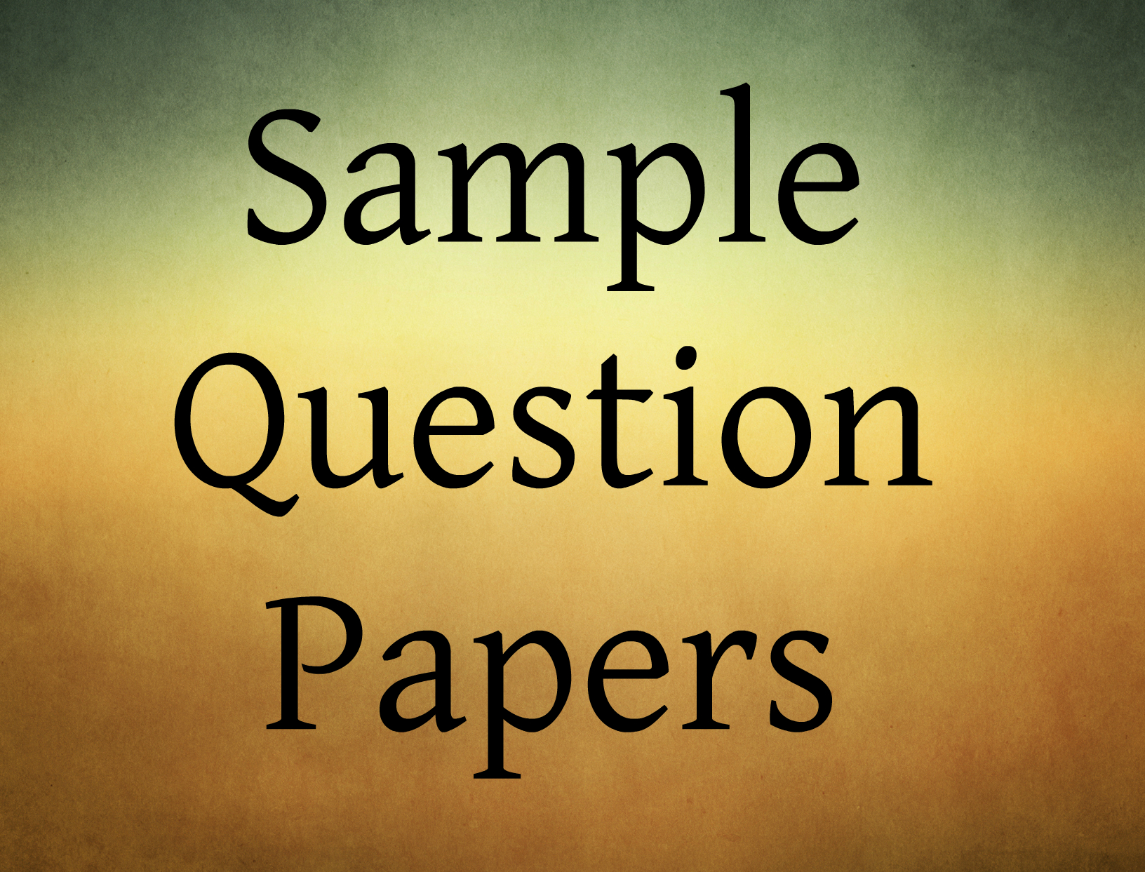 Sample question papers