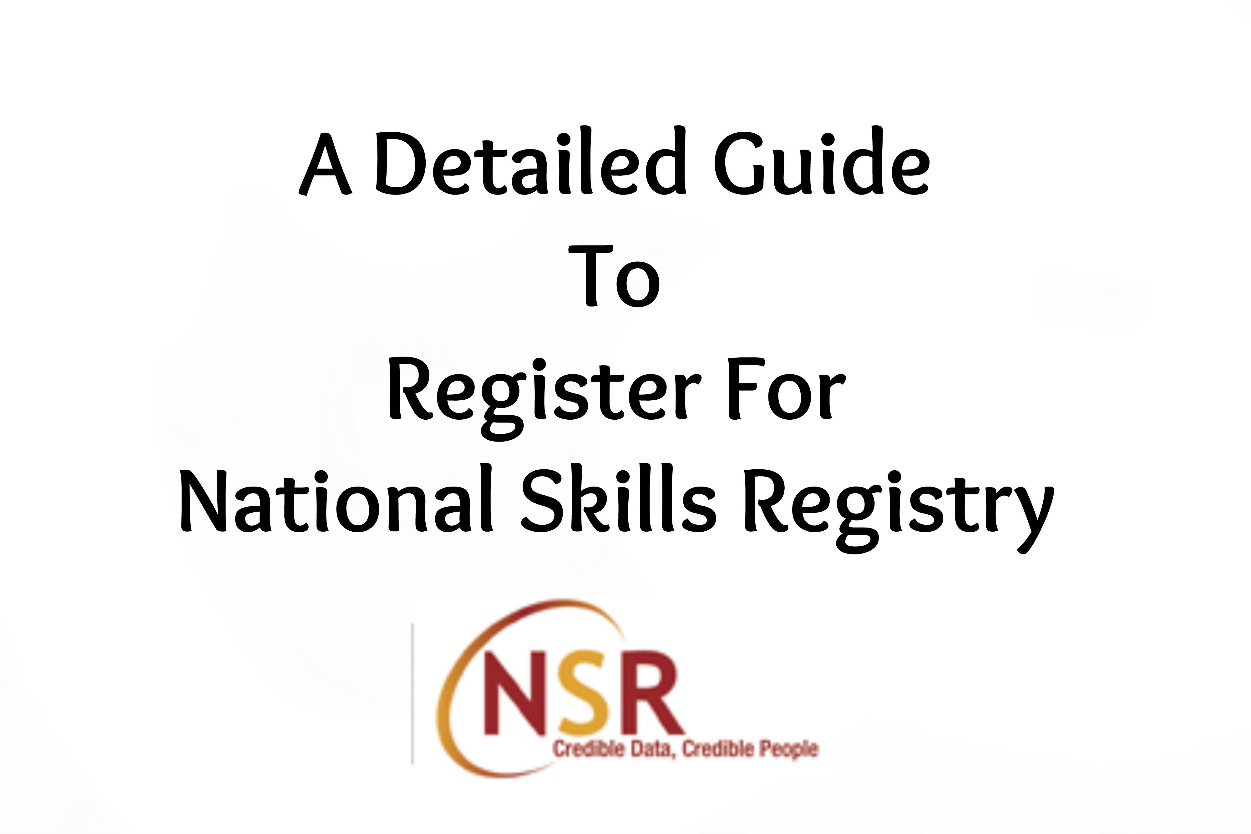 NSR - National Skills Registry
