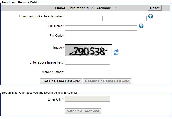 Download Aadhaar Card COPY
