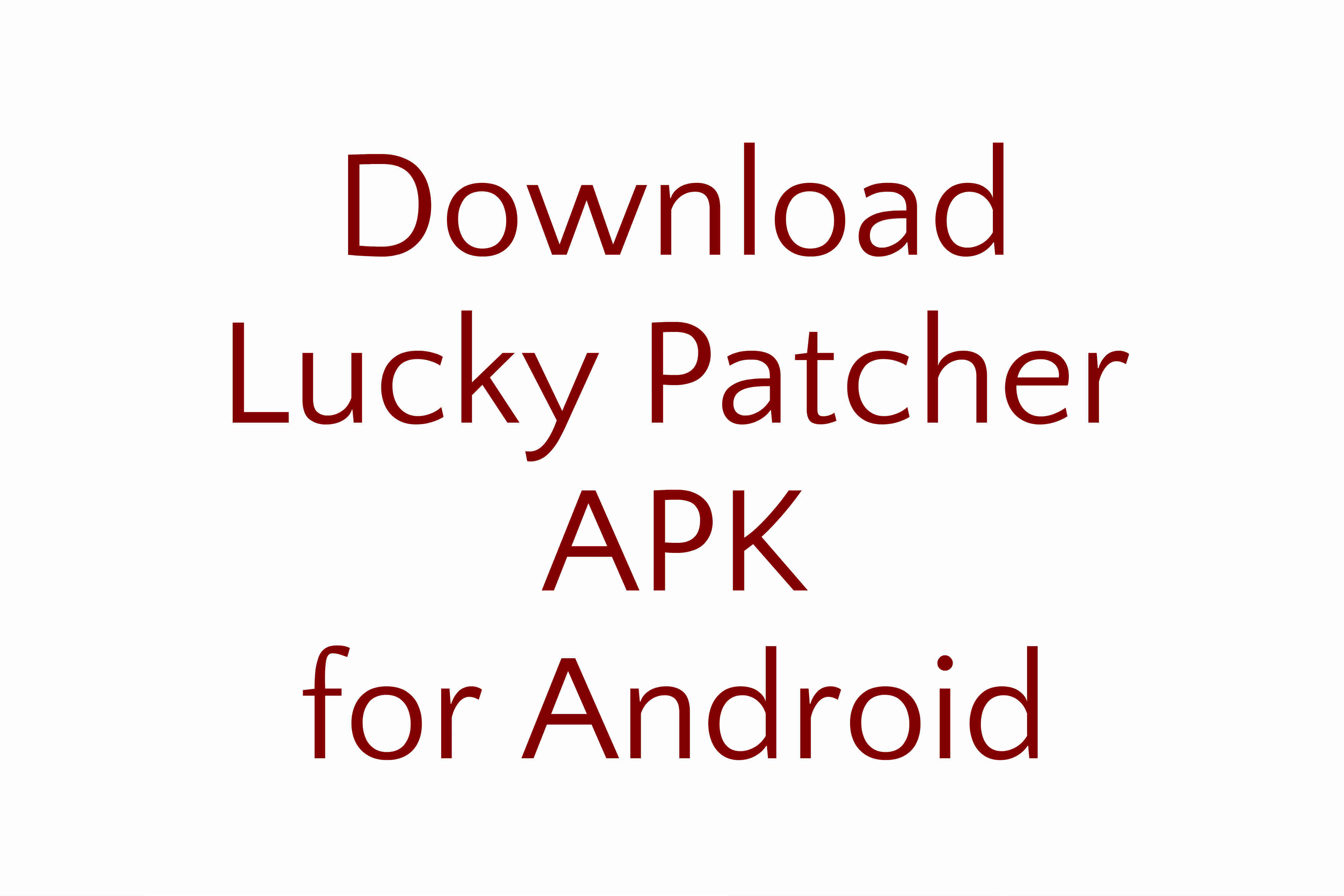 Download Lucky Patcher APK for Android
