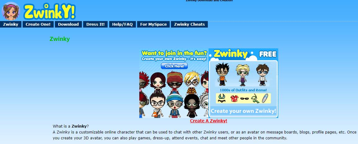 Free Zwinky avatars
