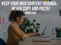 Keep Your Web Content Original Never Copy and Paste